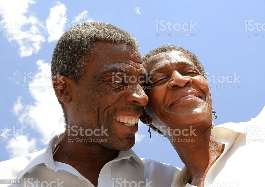 African Married Couple Laughing two royalty-free stock photo
