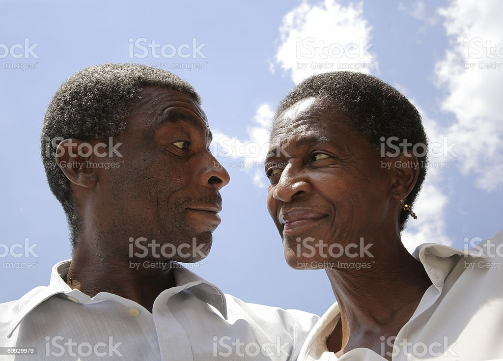 African Married Couple Playful royalty-free stock photo