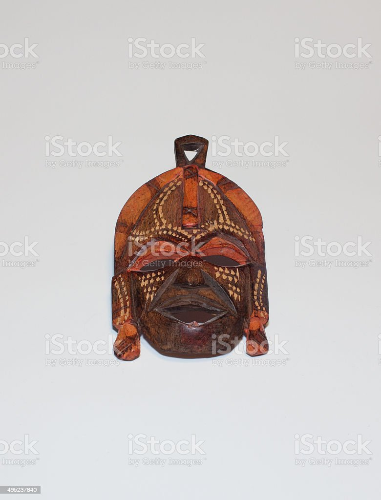 African Masai mask stock photo