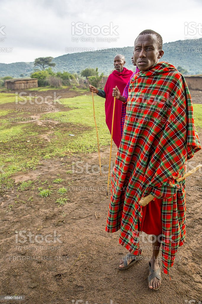 African masai people are posing royalty-free stock photo