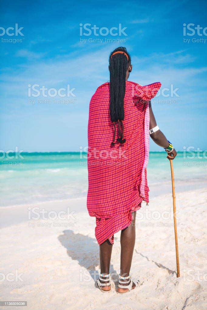 African Masai Warrior stock photo