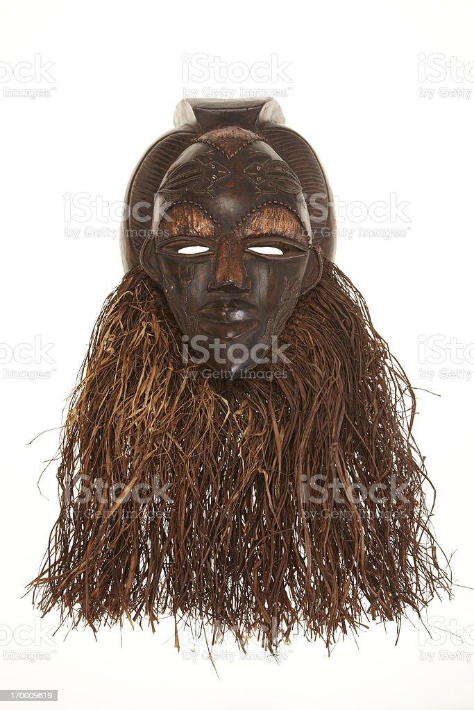 African mask isolated on white background stock photo