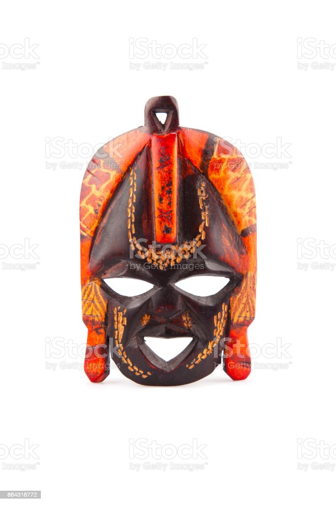 African mask, Zanzibar stock photo