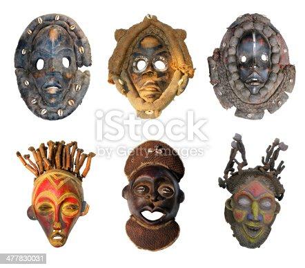istock African masks 477830031
