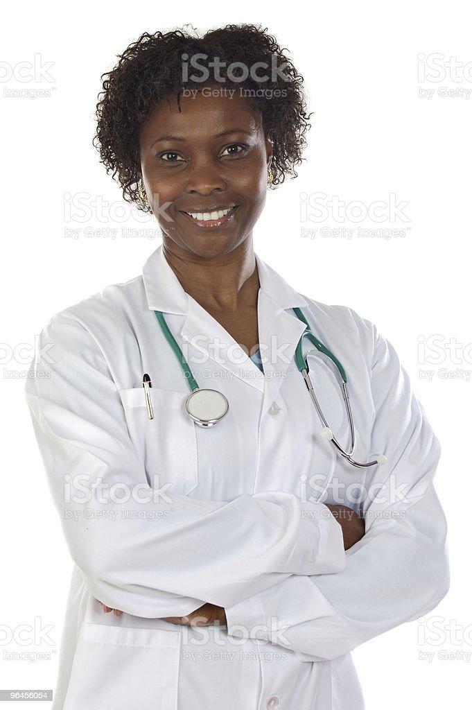 African medical girl stock photo