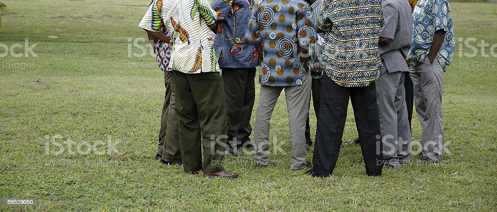 African Meeting royalty-free stock photo