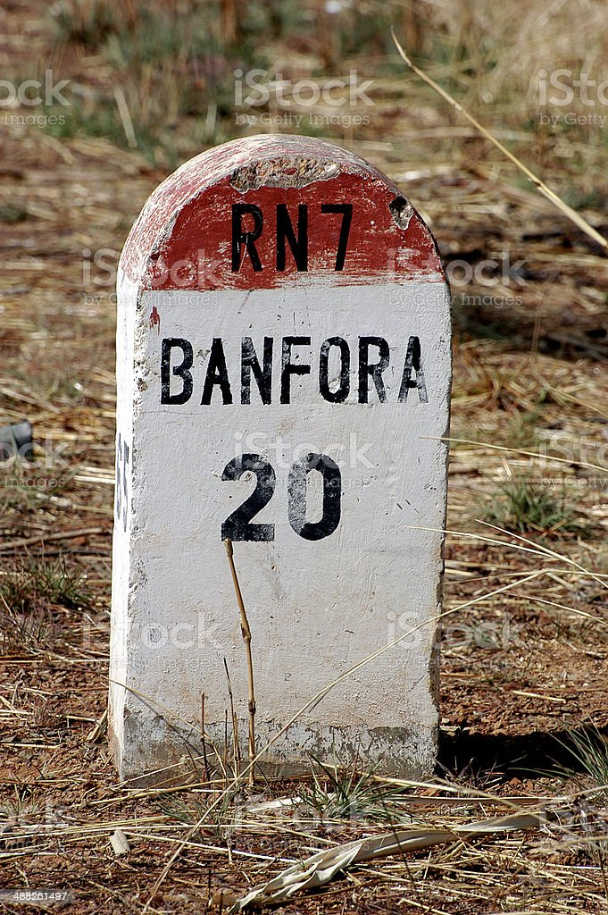 African milepost royalty-free stock photo