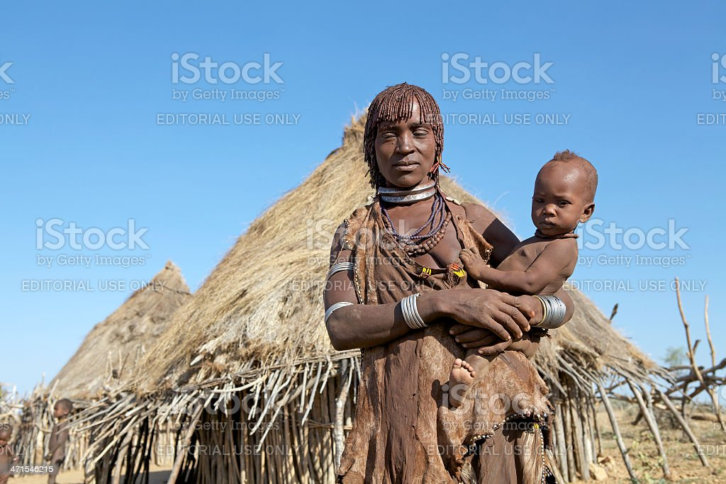 African mother and child royalty-free stock photo