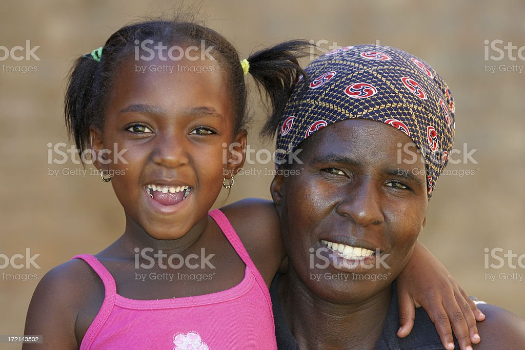 African Mother and Daughter two royalty-free stock photo