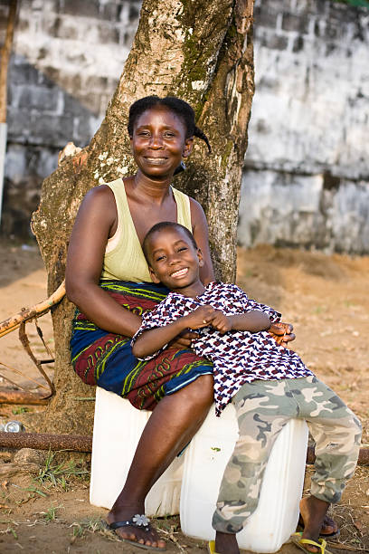 African Mother and Son foto