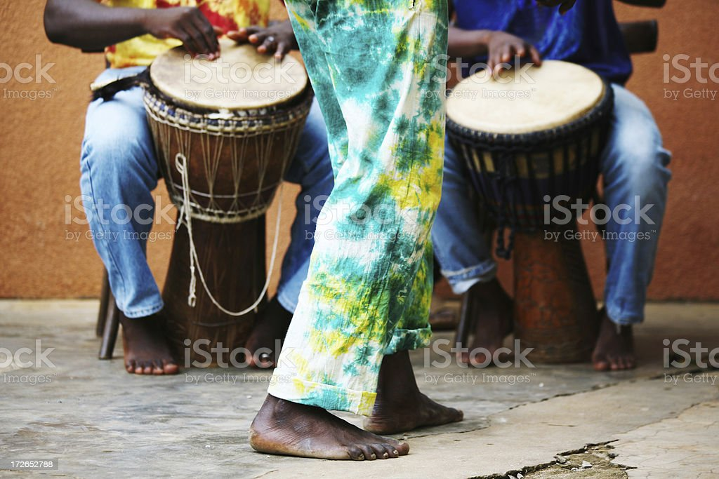 african musicians stock photo