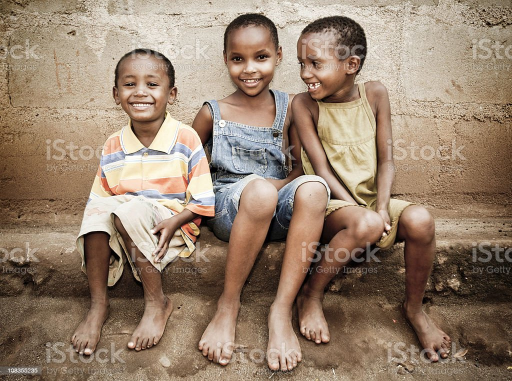 African Orphan Girls stock photo