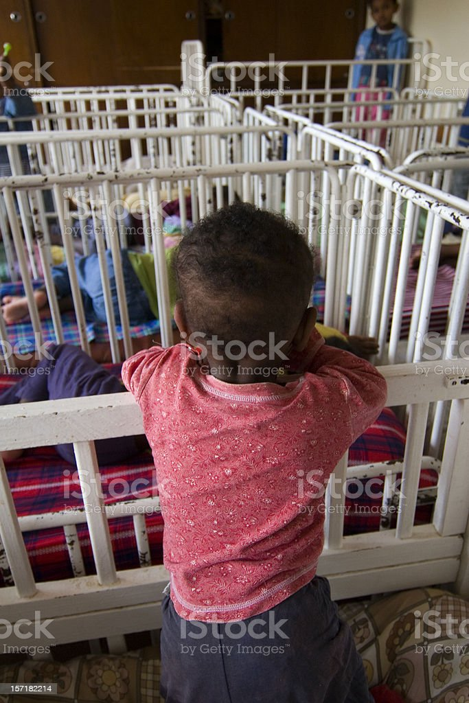 African Orphanage stock photo