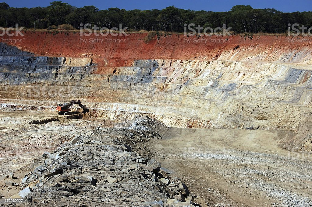 African Overburden royalty-free stock photo