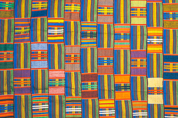 african pattern. - kente cloth stock photos and pictures