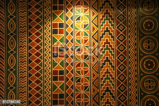 Wall pattern in traditional African style perfect for backgrounds.