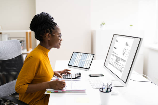 African Professional Chartered Accountant Woman stock photo