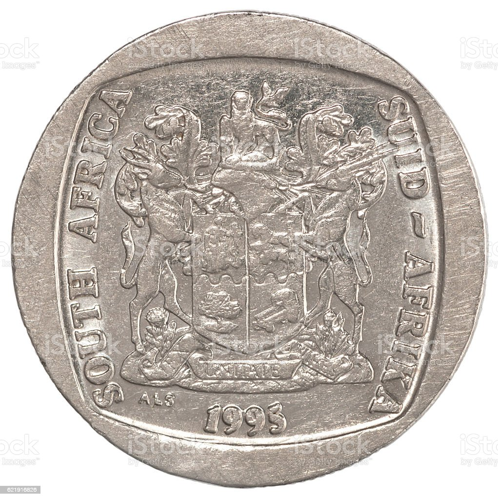 african rands coin stock photo