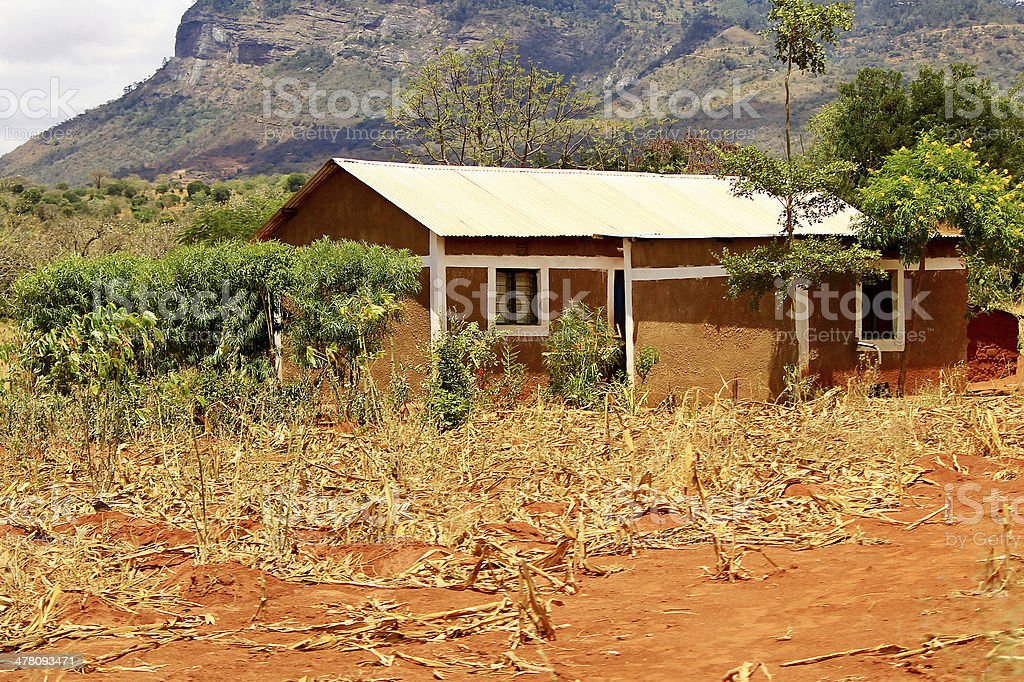 African ranger house royalty-free stock photo