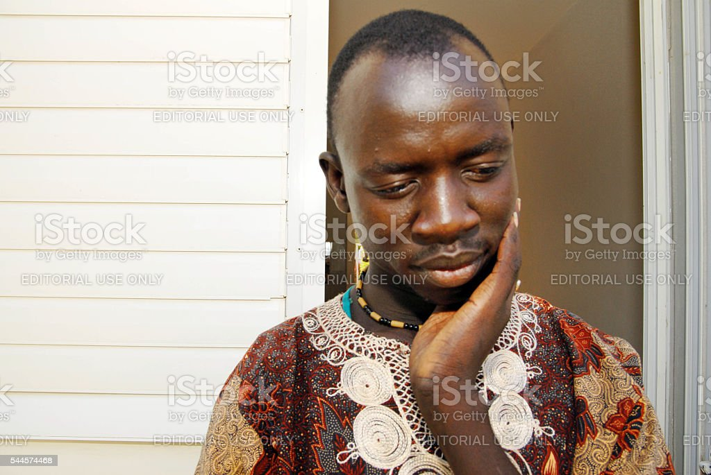 African refugee detention centre stock photo