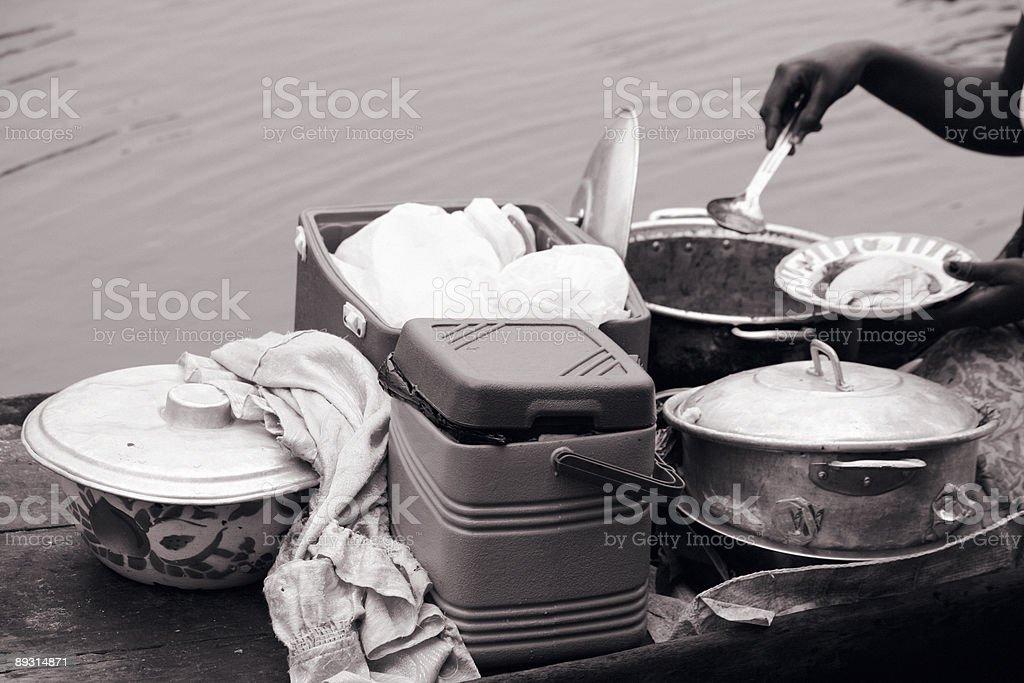 Afrikanischer restaurant auf dem Boot – Foto