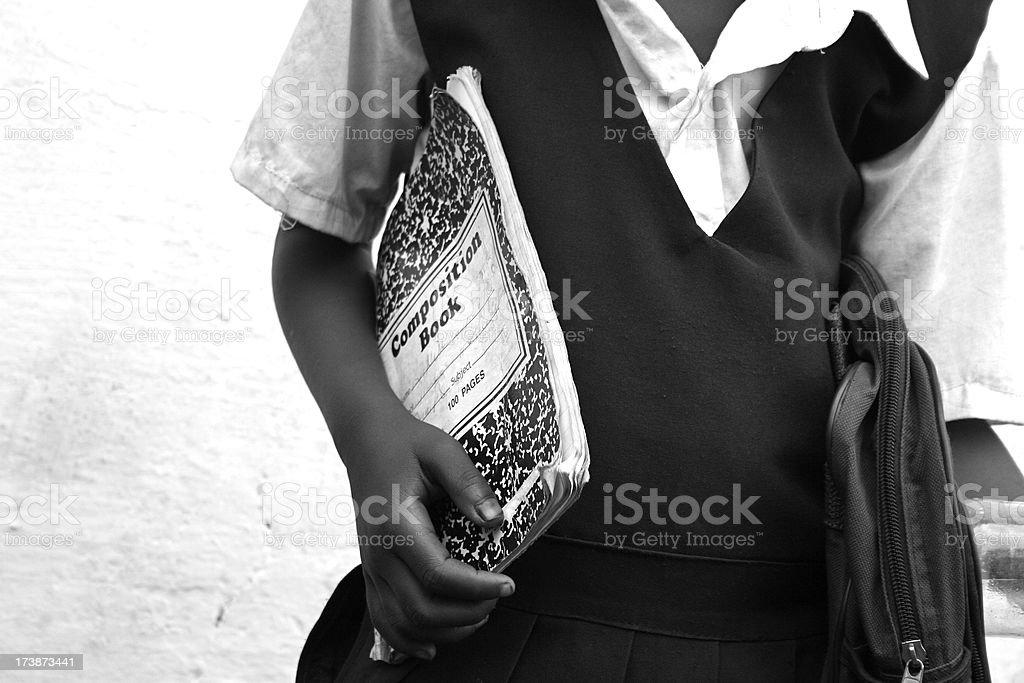African School Girl stock photo
