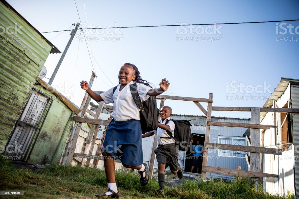 African School kids stock photo