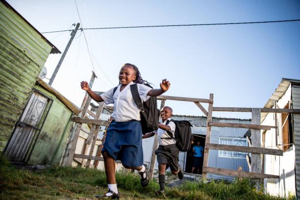 African School kids stock photo