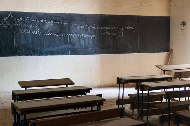 African school Empty Classroom in African School in Mali ecole stock pictures, royalty-free photos & images