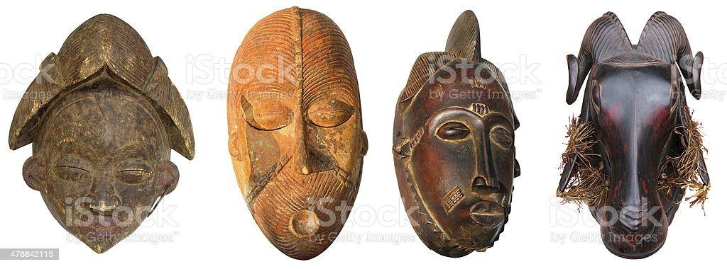 African sculptures stock photo