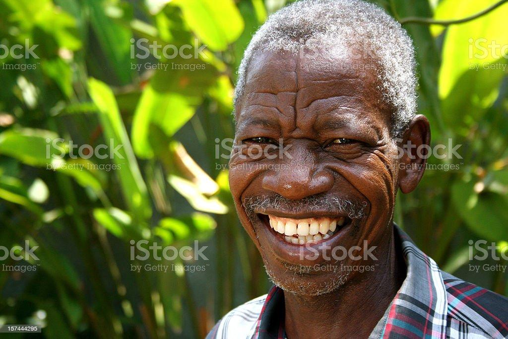 African Senior stock photo