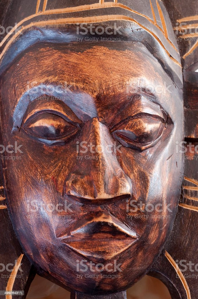 African shanti face mask stock photo