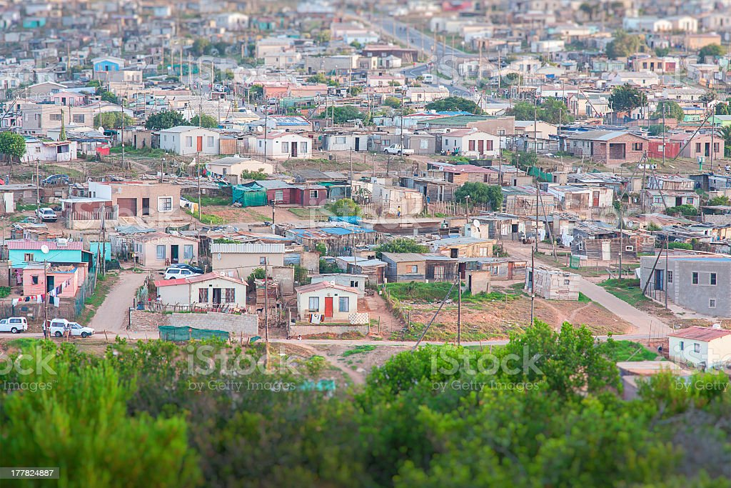 african shanty town royalty-free stock photo