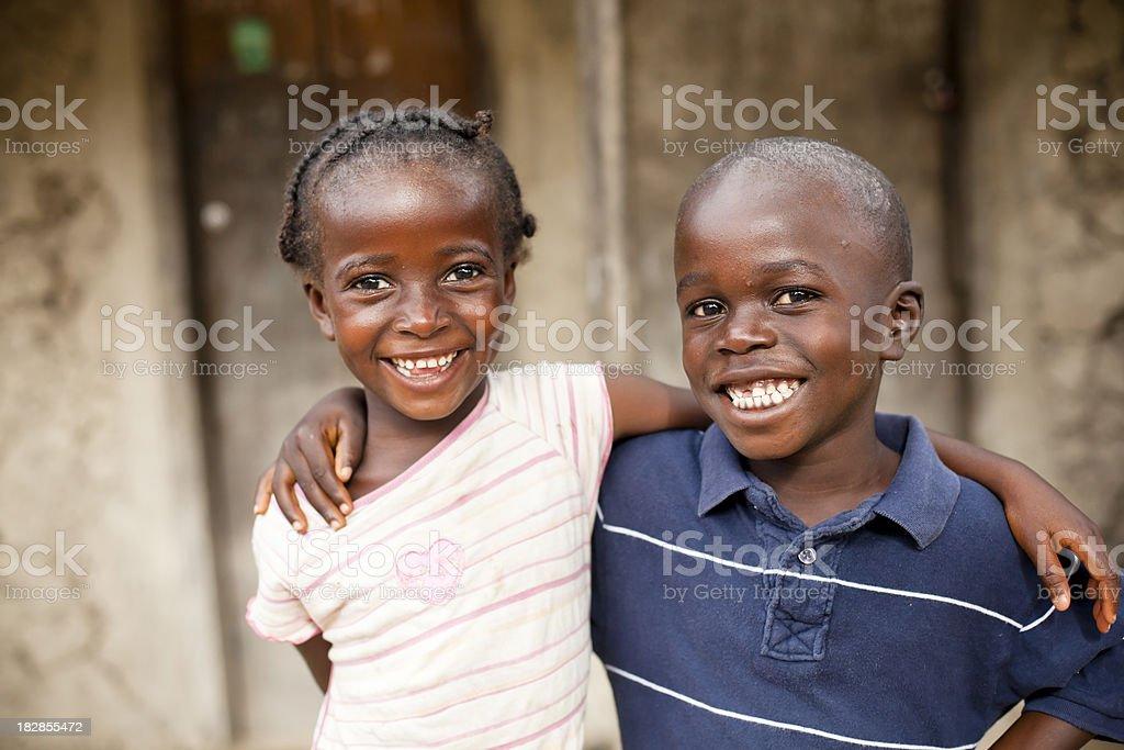 African Siblings stock photo