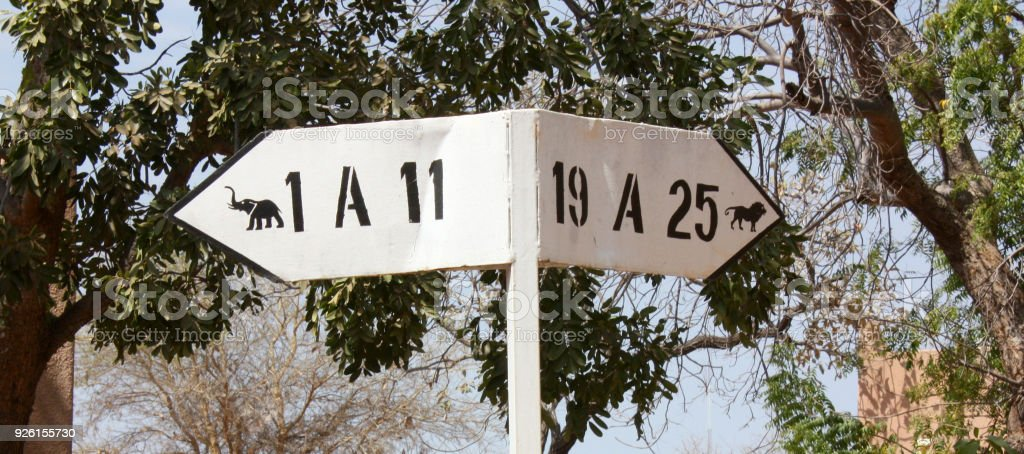 african signposting stock photo