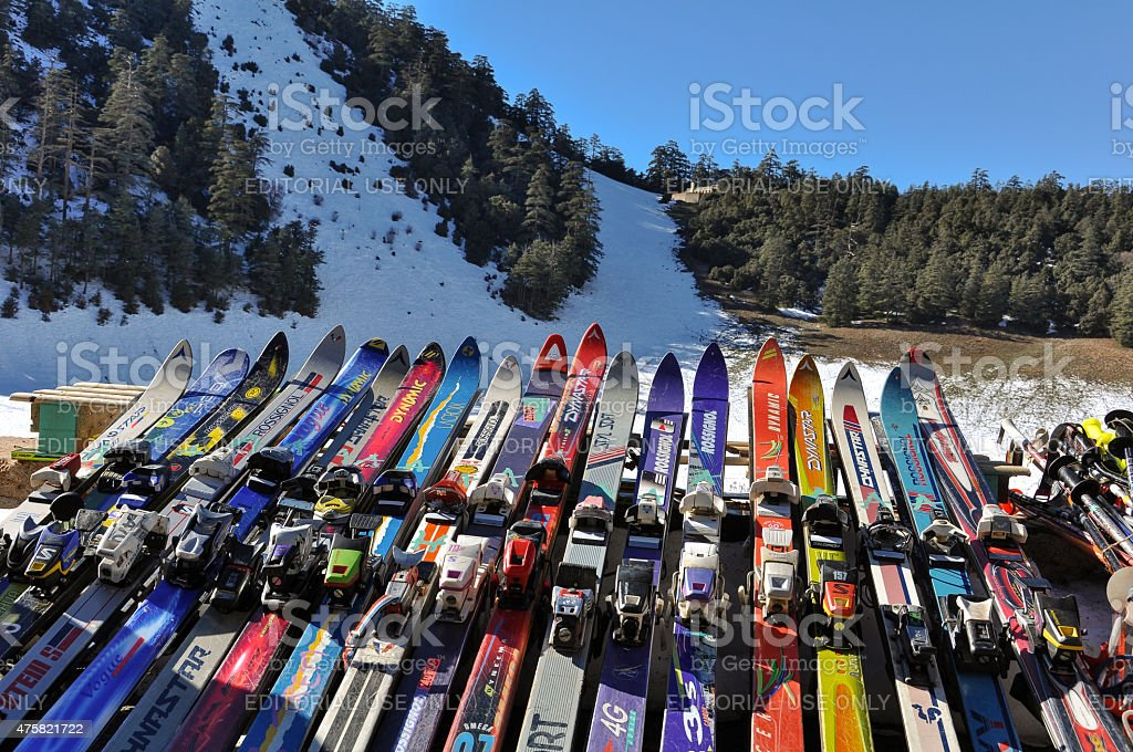 African Ski Resort Ifrane, Morocco - December 20, 2012: Ski resort in the Middle Atlas mountains in Morocco. It gets too much crowded during the high season. 2015 Stock Photo