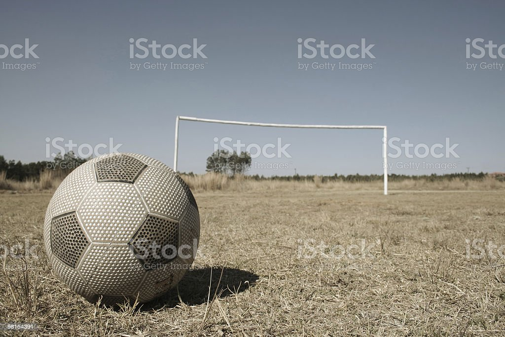 African Soccer Development royalty-free stock photo