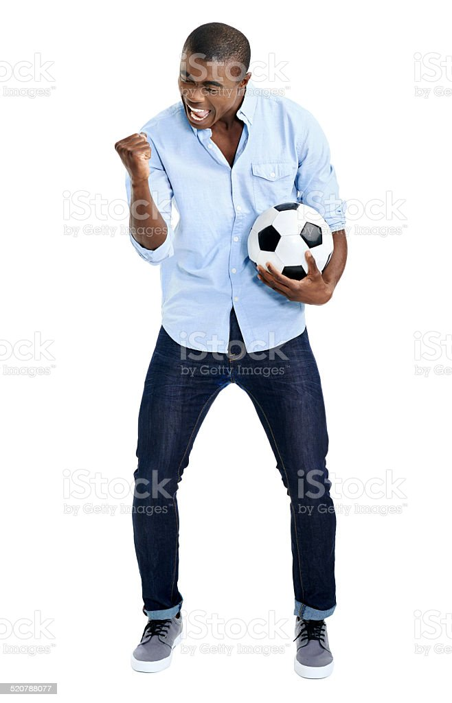 african soccer fan stock photo