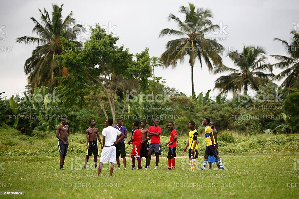 Afrikanischer soccer team während des Trainings – Foto
