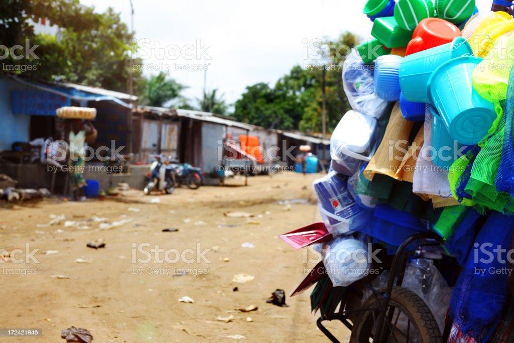 african street scene royalty-free stock photo