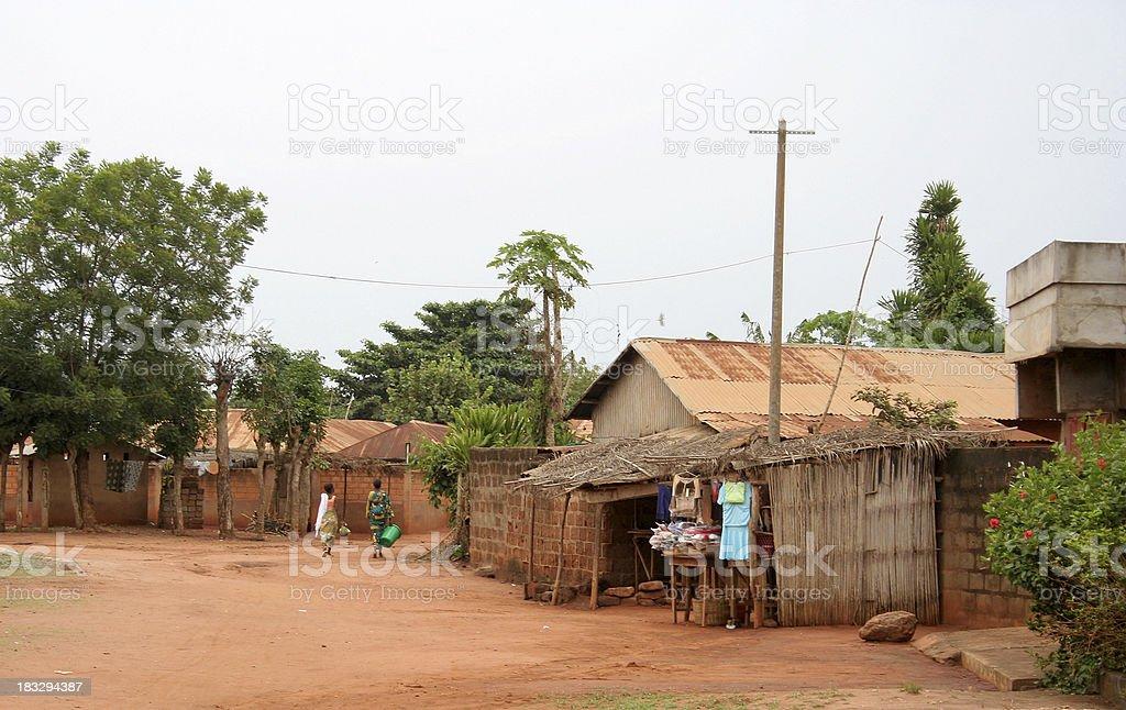 african street scene stock photo