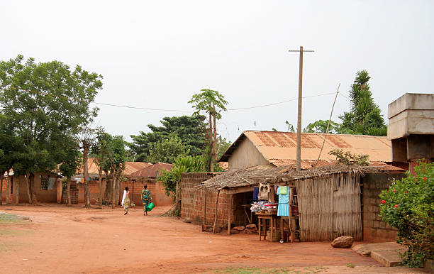 african street scene - village stock photos and pictures