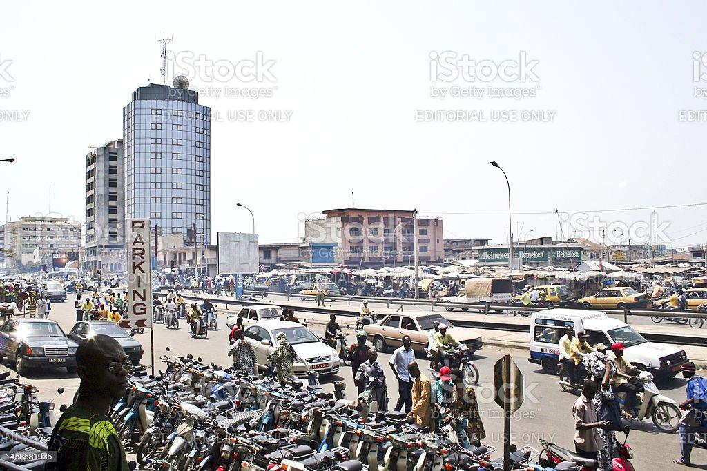 African cena de rua. - foto de acervo