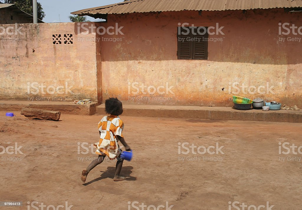 african street scene royalty-free stock photo