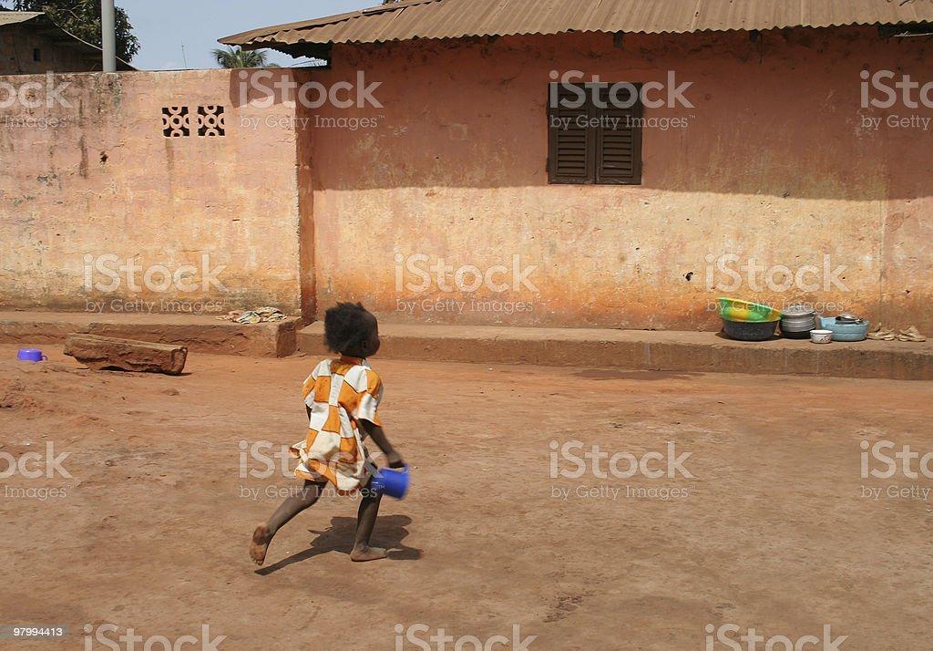 african street scene foto