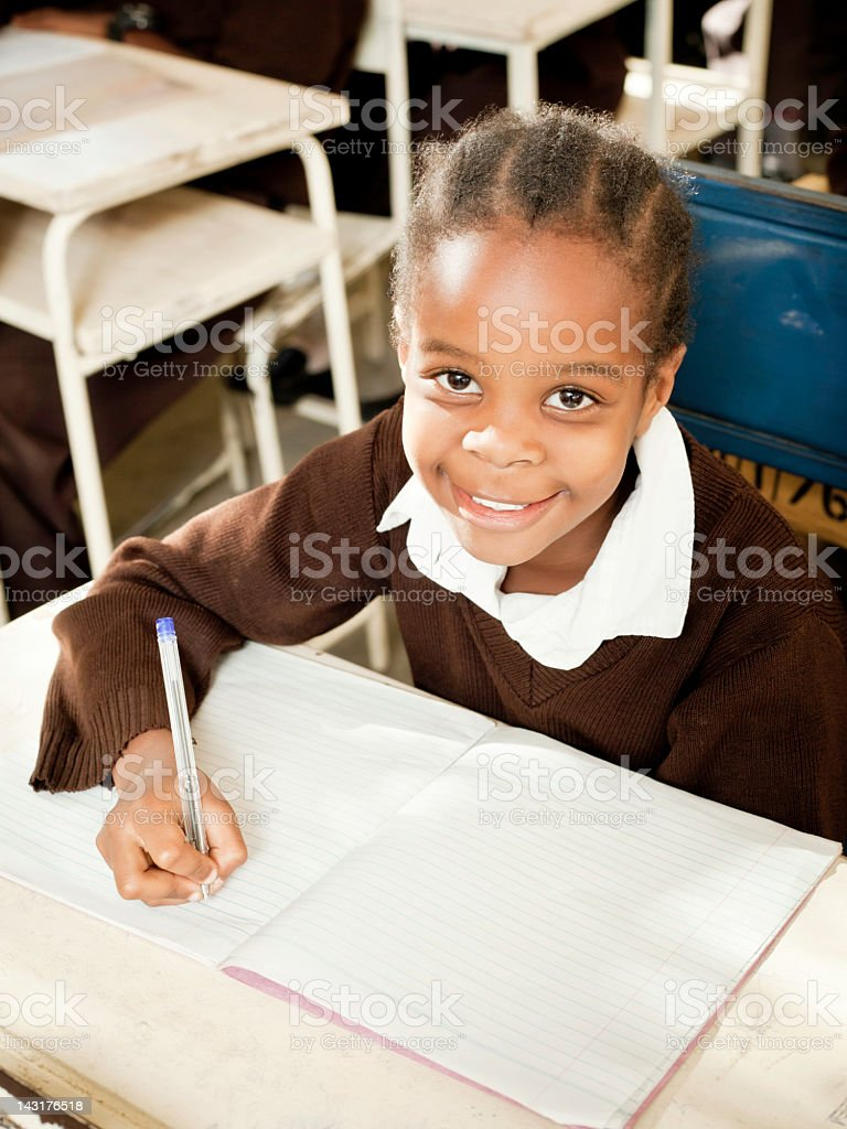 African Student at School royalty-free stock photo