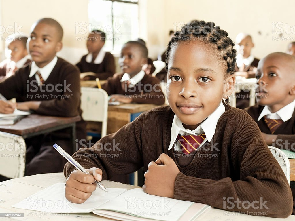 African Students at School stock photo