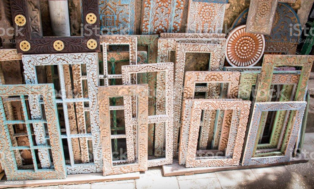 African Style Frames In Market In Stown Town Zanzibar Tanzania Stock ...