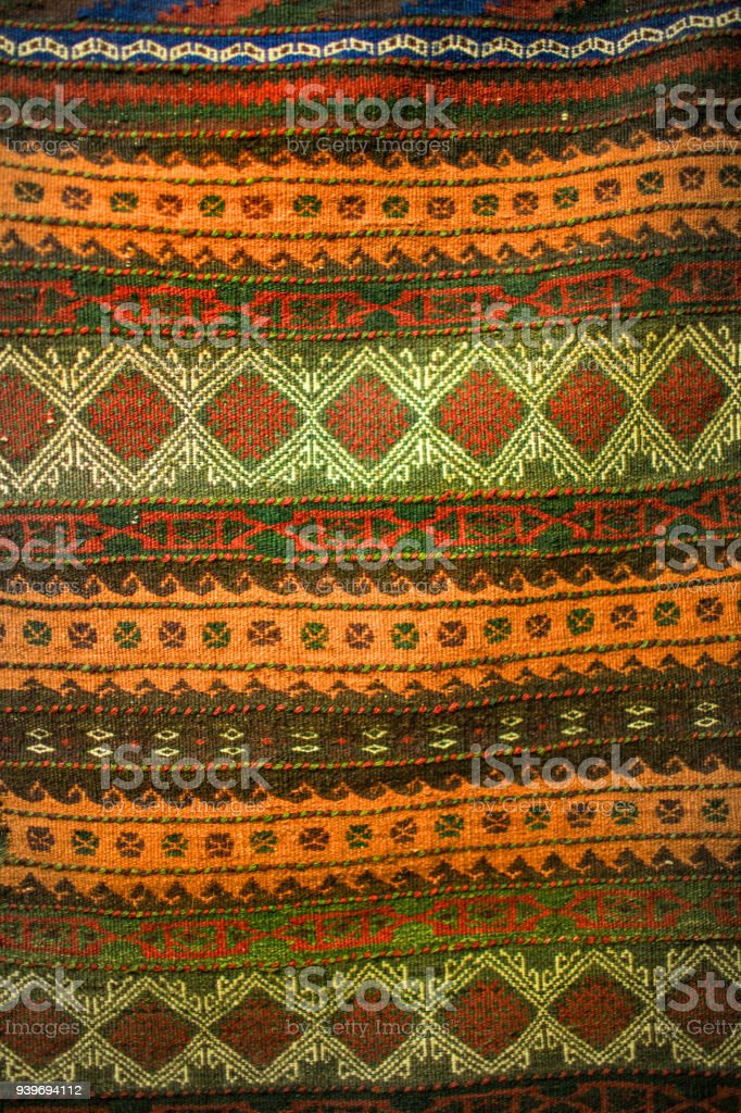 African style textile hessian cloth stock photo