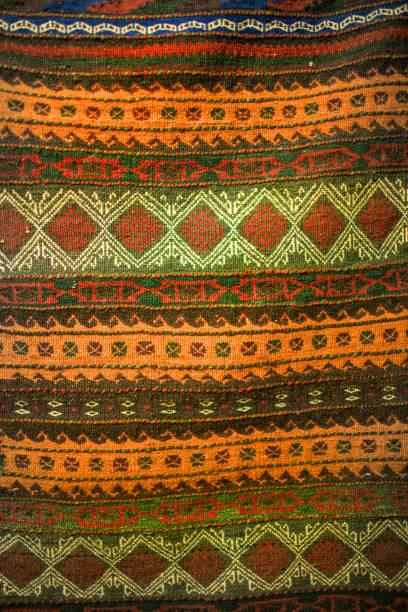Tela de arpillera de textil de estilo africano - foto de stock